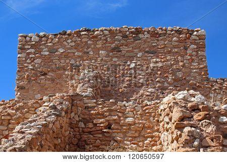 Up close view of Arizona Indian ruins