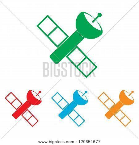 Satellite sign. Colorfull set
