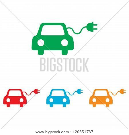 Eco electrocar sign