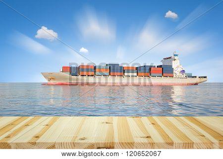 Cargo Ship Sky