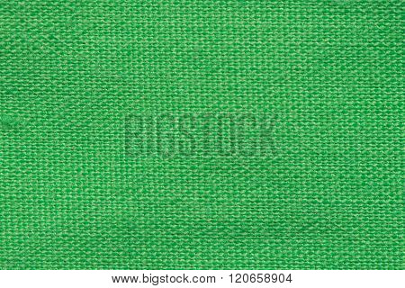 Green fabric texture for background. Background of linen fabric.