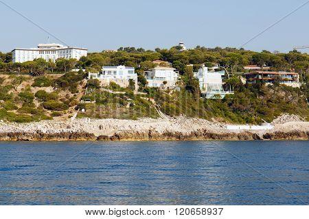 French Riviera coastline