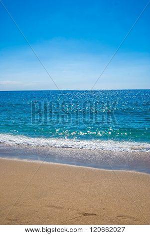 sandy beach and sea