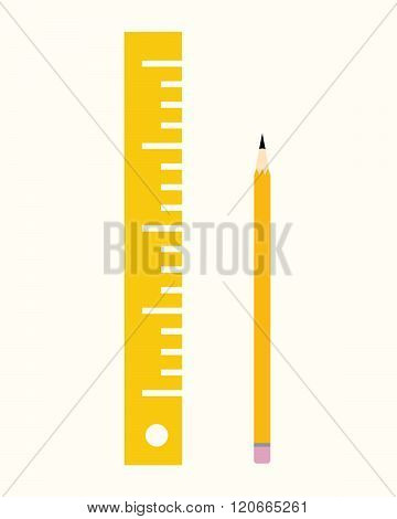 Vector pencil and ruler set