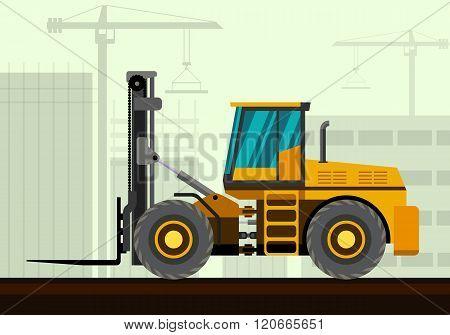 Forklift Loader Industrial Crane