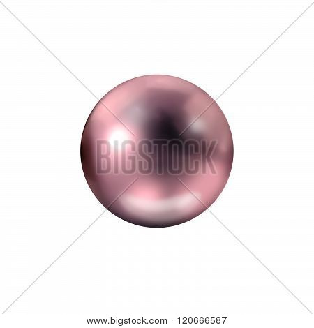 Single burgundy natural pearl