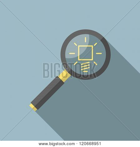 Magnifying Glass And Lightbulb