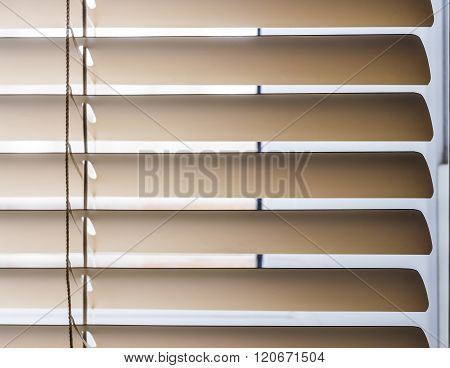 Beige Horizontal Blinds