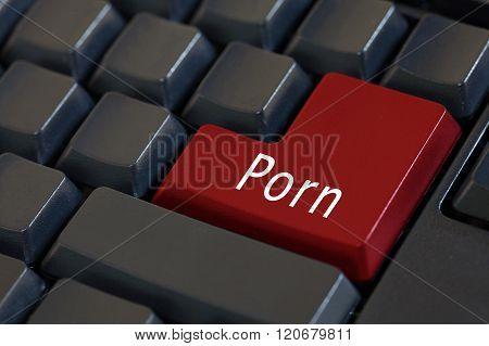 Word 'porn' On Enter Keyboard