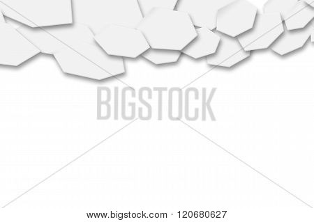 White Hexagons Background.