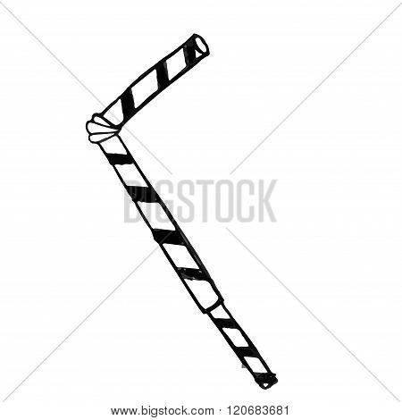 Vector isolated doodle tubule on white background