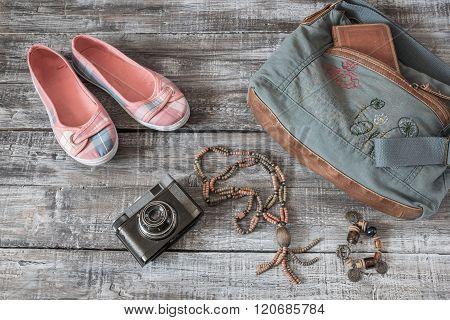 Vintage Still Life Of Random Objects  Woman/girl