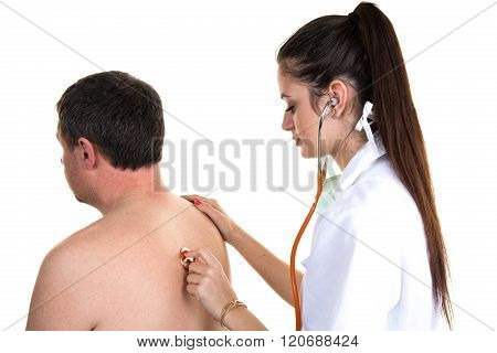 Portrait Of Confident Practitioner Checking Patient