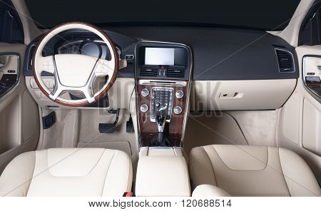 Dark Luxury Car Interior