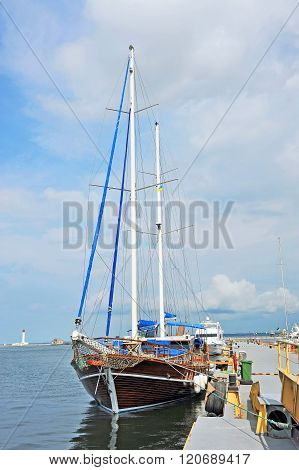 Vintage Wooden Yacht