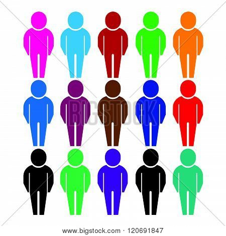 an images of Population People Icon Illustration design