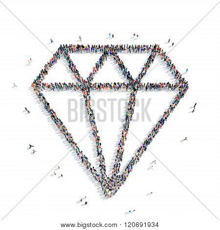 people shape  diamond
