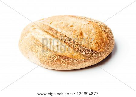 Top View Potato Bread Roll, On White Background