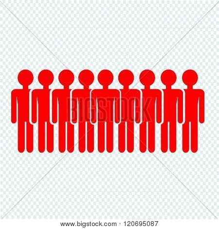 an iamages of Population People Icon Illustration design.