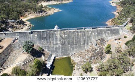 Aerial Of Mundaring Weir