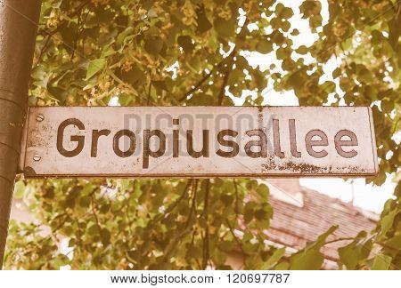 Street Sign Vintage