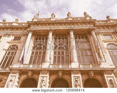 Retro Looking Palazzo Madama Turin
