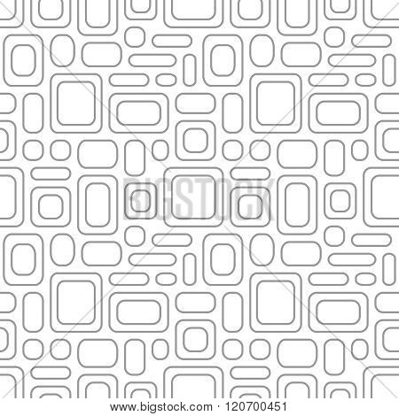 Seamless Vintage Pattern. Geometric Vector Textured Light Gray Background