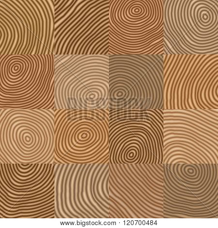 Abstract Simple Geometric Wooden Like Vector Pattern -  Background For Design
