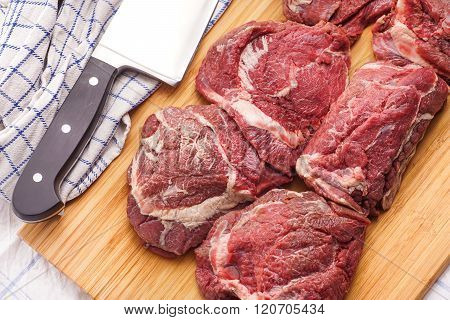 Raw Meat, Delicious Veal, Beef Cheeks