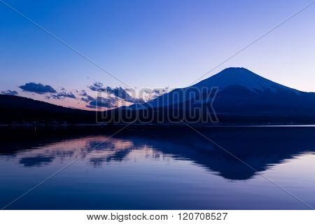 Mountain Fuji with Lake Yamanaka