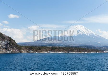 Lake Motosu and Mt. Fuji