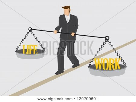 Work Life Balance Conceptual Vector Illustration
