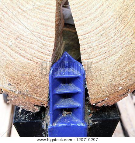 Split wood