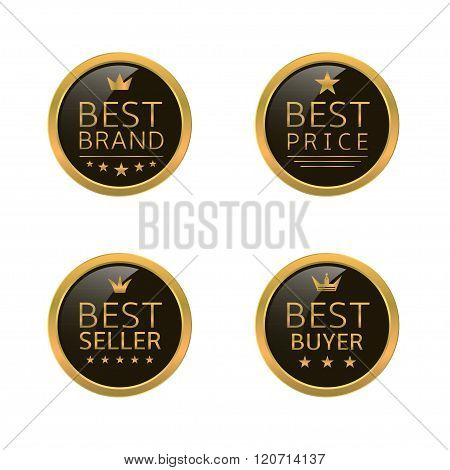 Golden best labels