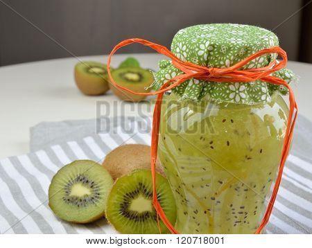 Jar With Kiwi Jelly