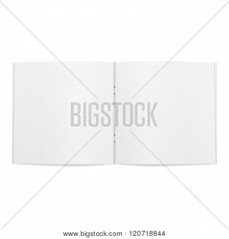 Blank opened square Magazine Template
