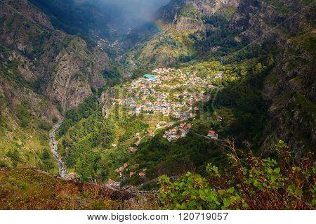 Aerial View Of The Village Curral Das Freiras