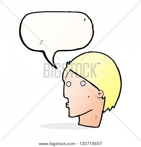 cartoon surprised face with speech bubble
