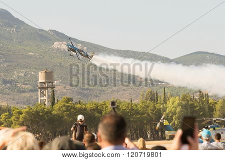 Flight show of Melissa Pemberton at the Athens air week flying show