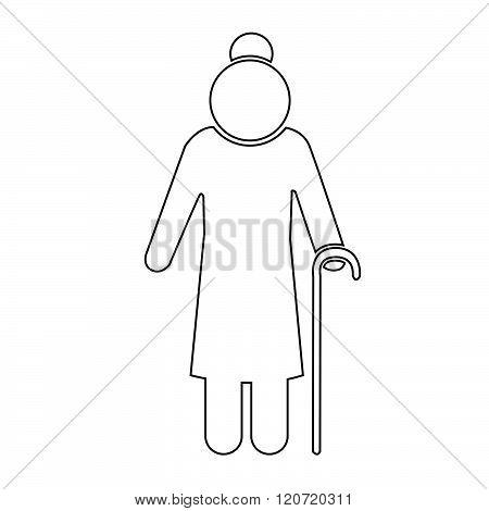 Elder People Icon Illustration Design