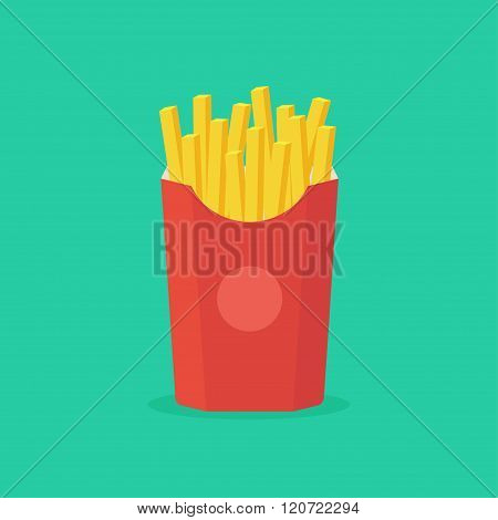 Fries Vector Illustration