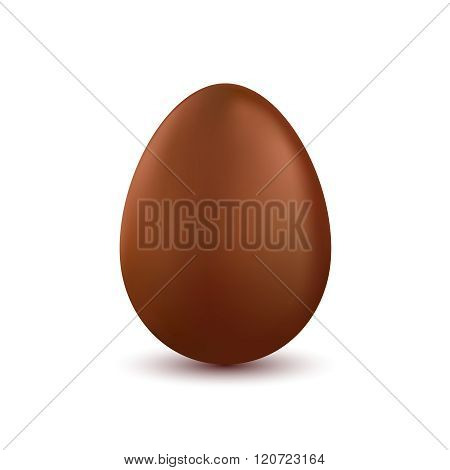Vector chocolate easter egg isolated on white