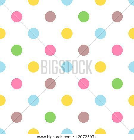Seamless colorful polka pattern for easter eggs