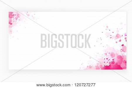 Grunge pink art background