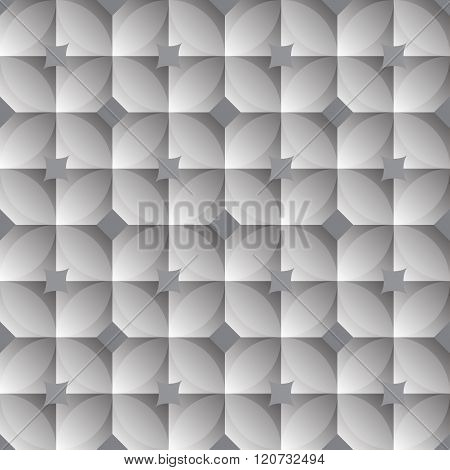 Vintage Circle And Square Pattern - Gray Gradient Theme