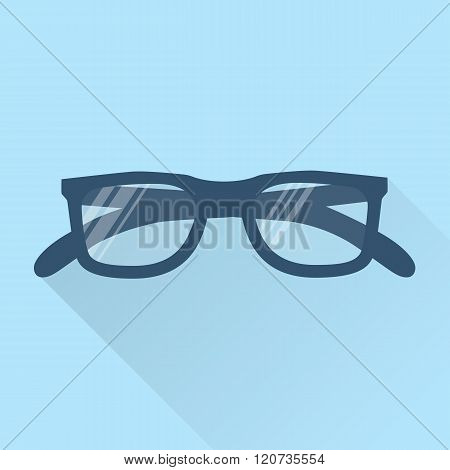 Glasses Icon. Spectacles Icon, Vector Flat Design.