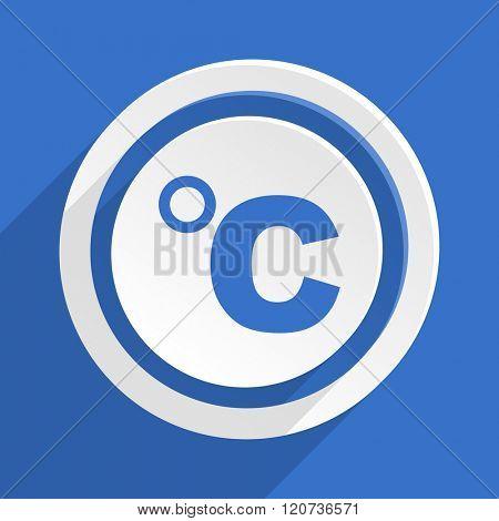 celsius blue flat design modern icon