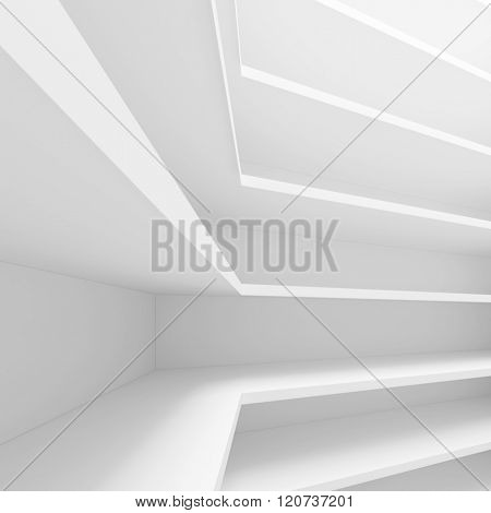 3d White Modern Architecture Background