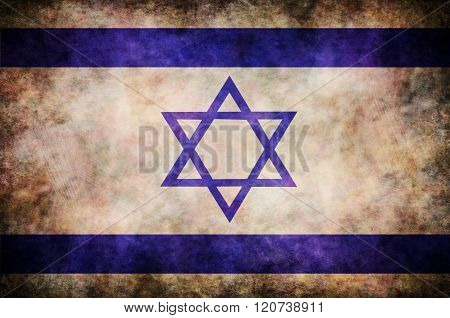 Grunge Izrael Flag