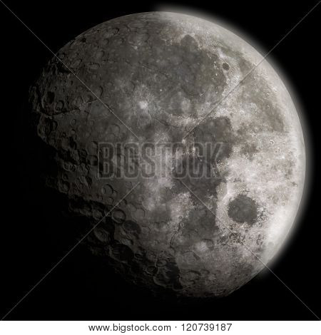 3D Generic Moon With Craters